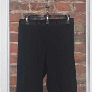 PINK Essential Leggings M - Black